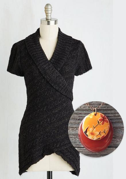 blacksweaterhoneyrednecklace