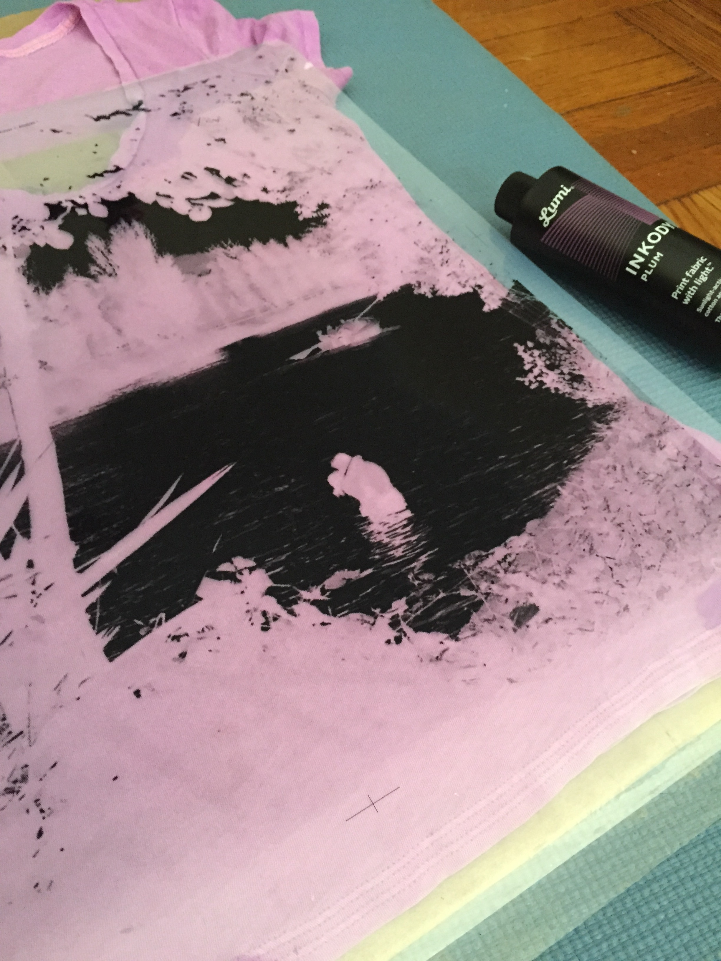Order supplies and create big-ass negative from local screen printing shop, Gowanus Print Lab.