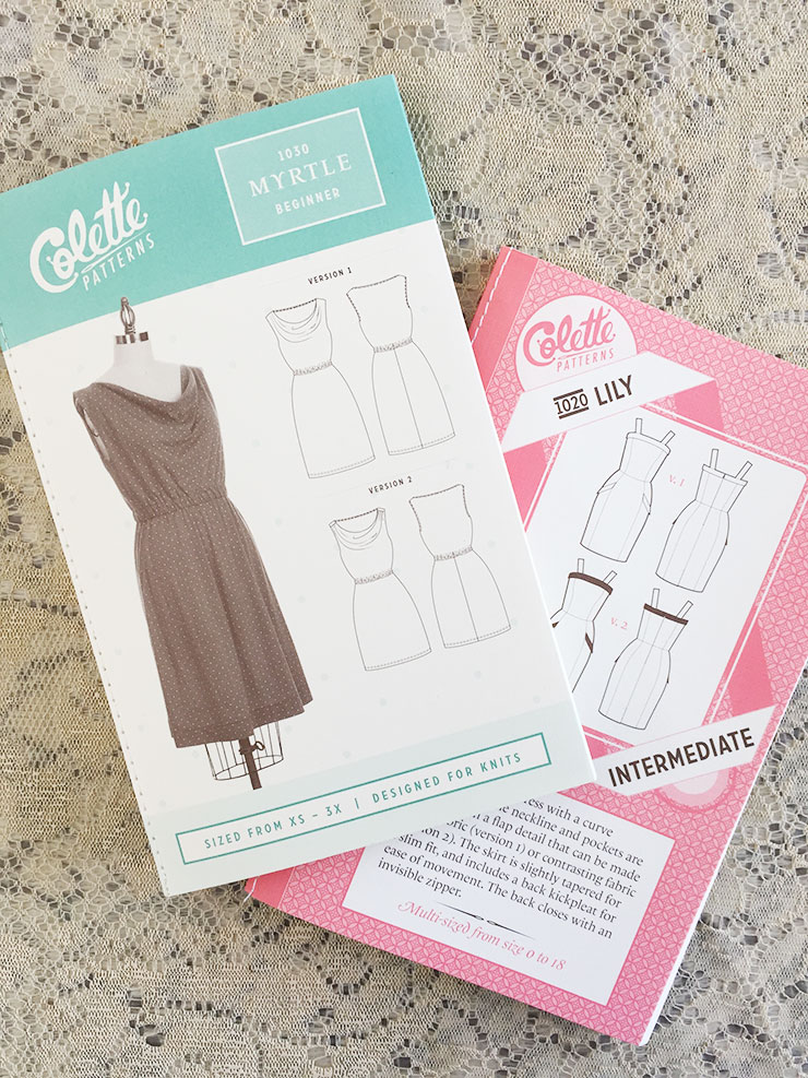 Here are the patterns from Colette Patterns - the cutest patterns I've ever, ever, ever seen.